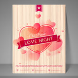 Night party celebration flyer or banner. Royalty Free Stock Photo