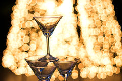Night party with champaign shot Stock Photography