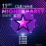 Night party design template Stock Photos