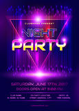 Night party flyer. Royalty Free Stock Image