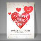 Night party flyer for Valentines Day celebration. Stock Image