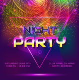 Night party invitation. Royalty Free Stock Images