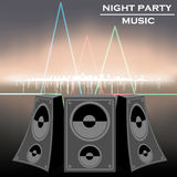 Night party music vector Royalty Free Stock Images