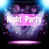 Night party, poster and flyer background Stock Image