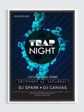 Night Party Template, Banner or Flyer design. Stock Images
