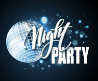 Night Party Typography design. Vector illustration. EPS10 Royalty Free Stock Photos