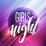Night Party Typography design. Vector illustration Royalty Free Stock Photo