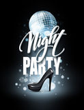 Night Party Typography design. Vector illustration Stock Images
