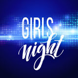Night Party Typography design. Vector illustration. EPS10 Stock Photography