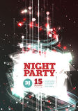 Night party Vector Stock Image