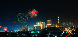 Night Pattaya city of Thailand Royalty Free Stock Images