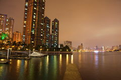 The night of Pearl River Stock Photo