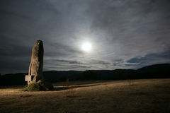 Night pedestal at moon light Stock Photography