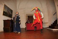 Night Performance Svihov Castle 2016 Royalty Free Stock Photos