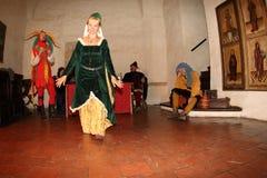 Night Performance Svihov Castle 2016 Royalty Free Stock Image