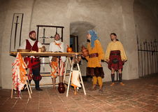 Night Performance Svihov Castle 2016 Royalty Free Stock Photography