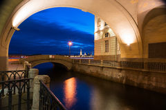 Night Petersburg and the Peter and Paul Fortress Stock Photography