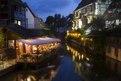 Night in Petite Venice, Colmar, Alsace, France Stock Photos