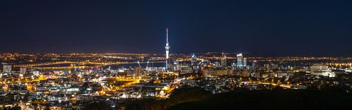 Auckland. Night photo from Auckland, New Zealand Royalty Free Stock Images