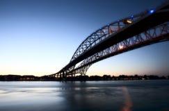 Night Photo Blue Water Bridge Royalty Free Stock Images