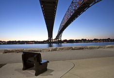Night Photo Blue Water Bridge Stock Photos