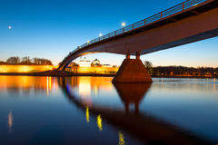 Night photo of the bridge Royalty Free Stock Photo