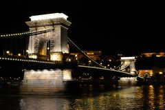 Chain bridge in Budapest, Hungary Stock Image