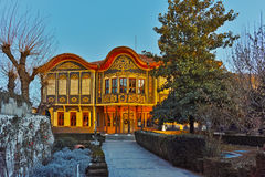 Night photo of The Ethnographic Museum, city of Plovdiv, Bulgaria Royalty Free Stock Photography