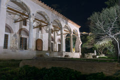 Night photo of Fethiye Mosque in Athens, Greece Stock Images