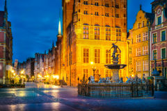 Night photo of Gdansk old town Stock Image