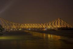 Howrah Bridge of Kolkata stock photo