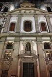 Night photo of Jesuit Church in Luzern, Switzerland Stock Photography