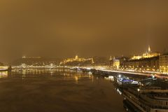 Night photo of Budapest royalty free stock image