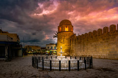 Night photo of Mosque in Sousse. Royalty Free Stock Images