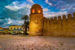 Night photo of Mosque in Sousse. Royalty Free Stock Photos