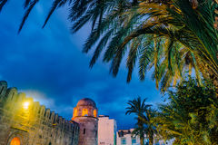 Night photo of Mosque in Sousse. Royalty Free Stock Photography