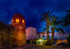 Night photo of Mosque in Sousse. Stock Photography