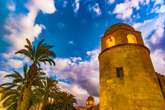 Night photo of Mosque in Sousse. Stock Photos