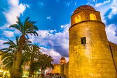 Night photo of Mosque in Sousse. Stock Image
