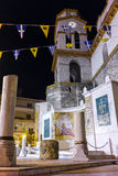 Night photo of orthodox church in Kavala,  Greece Stock Photos