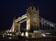 Night photo of tower bridge - london Stock Image