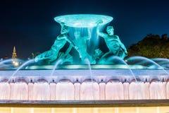 Triton Fountain, Valletta. Night photo of Triton Fountain in Valletta, Malta Stock Photos