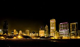 Night Photography Chicago Stock Photography