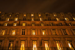 Night photography of a city building in Paris Stock Photo