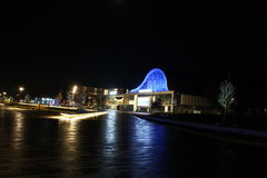 Night photography Emmen. In the Netherlands Stock Images