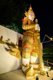 Night photography of giant Sahassadecha at miniature park is an open space that displays miniature buildings and models. PATTAYA CITY, CHONBURI PROVINCE royalty free stock photos