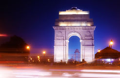 Night photography of india gate Royalty Free Stock Photography