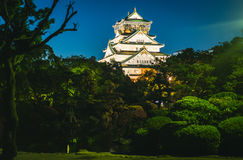 Night Photography of Osaka Castle Royalty Free Stock Photography