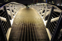 Night photography of a pedestrian bridge. BC, Canada Stock Images