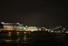 Night Photography Saint Petersburg city, nightlife Royalty Free Stock Photography